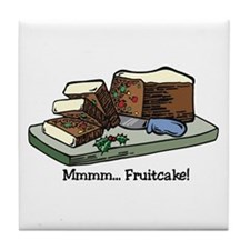 Mmmm Fruitcake Tile Coaster