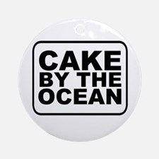 Cake by the Ocean Round Ornament