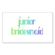 Color Shades Jr. Bridesmaid Rectangle Decal
