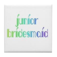 Color Shades Jr. Bridesmaid Tile Coaster