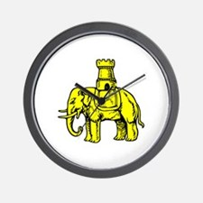 Funny Elephant and castle Wall Clock
