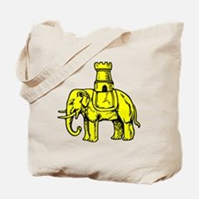 Cute Elephant and castle Tote Bag