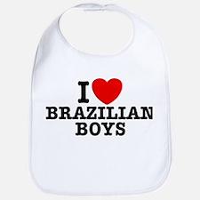 I Love Brazilian Boys Bib