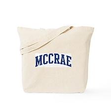 MCCRAE design (blue) Tote Bag