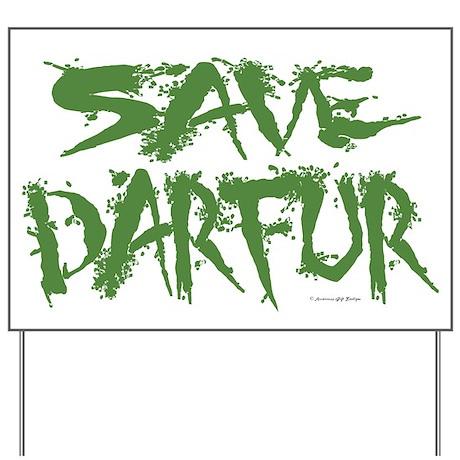 Save Darfur 3 Yard Sign