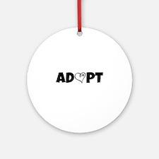 Adopt! Round Ornament