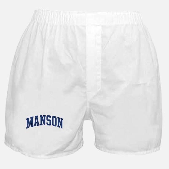 MANSON design (blue) Boxer Shorts