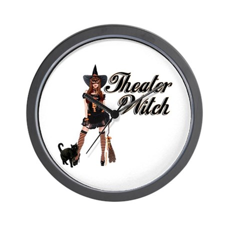 Theater Witch Wall Clock