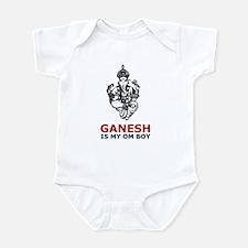 Ganesh Is My Om Boy Infant Creeper