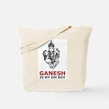 Ganesh Is My Om Boy Tote Bag