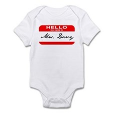 Hello My Name is Mrs. Darcy Infant Bodysuit