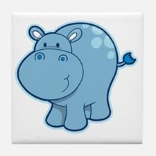 Funny Hippo Tile Coaster