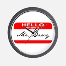 Hello My Name is Mr. Darcy Wall Clock