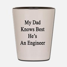 Cute Chemical engineer dad Shot Glass
