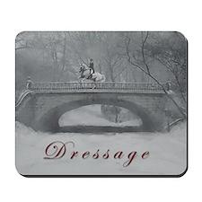 Winter Christmas dressage horse Mousepad