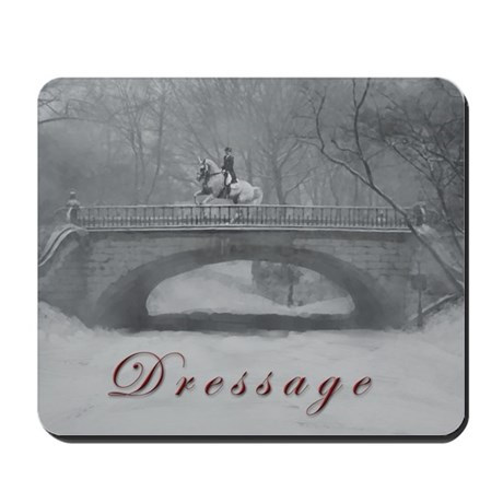 Winter Christmas dressage horse Mousepad