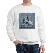 Winter Christmas dressage horse Sweatshirt