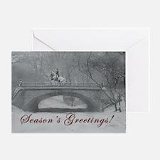 Winter Christmas dressage horse Greeting Card