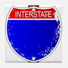 Interstate Sign Tile Coaster