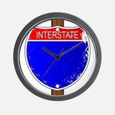 Interstate Sign Wall Clock
