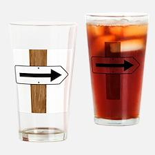 Cute Directional arrow Drinking Glass
