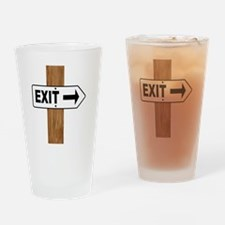 Unique Directional arrow Drinking Glass