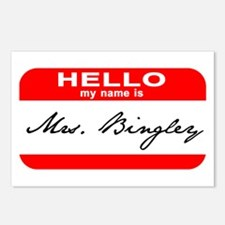 Hello My Name is Mrs. Bingley Postcards (Package o
