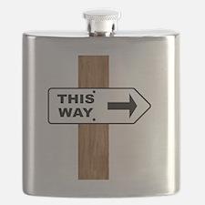 Cute Directional arrow Flask