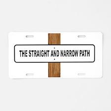 Unique Straight not narrow Aluminum License Plate