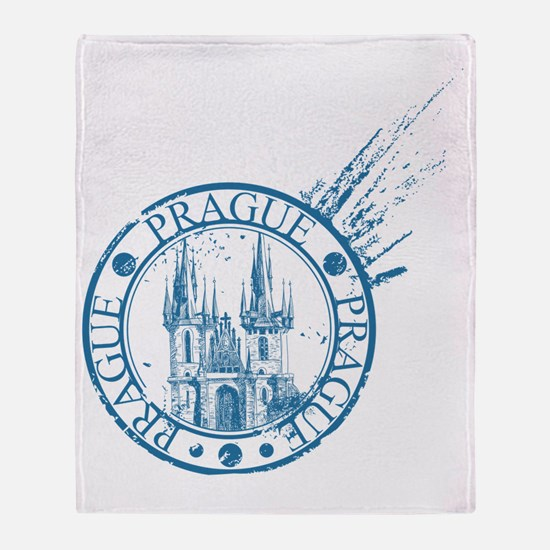 Funny Prague Throw Blanket