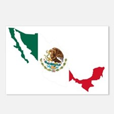 Unique Mexico flag Postcards (Package of 8)