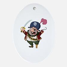 Unique Pirate design Oval Ornament