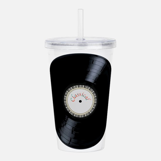Classical Record Acrylic Double-wall Tumbler