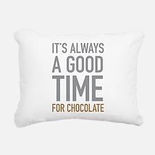 Chocolate Rectangular Canvas Pillow