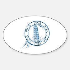 Unique Pisa Sticker (Oval)