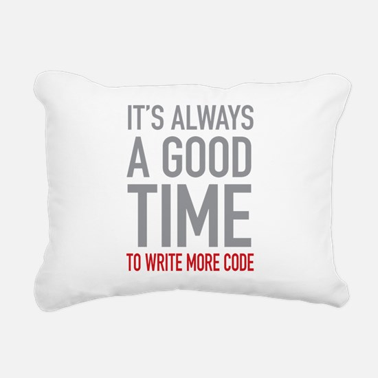 Write More Code Rectangular Canvas Pillow