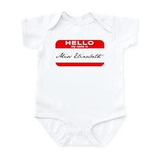 Hello My Name is Ms. Liz Infant Bodysuit