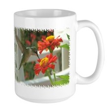 1998 Hummingbird Drinking From Zinnia Mug