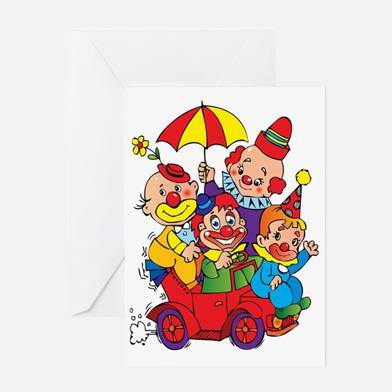 Unique Clown Greeting Card