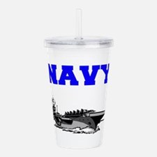 Navy Acrylic Double-wall Tumbler