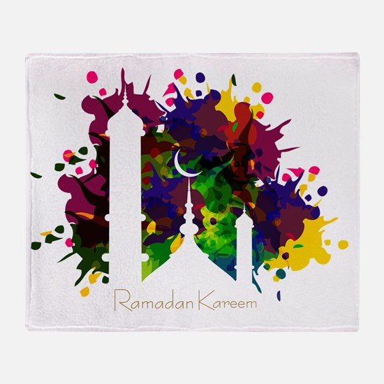 Cute Ramadan Throw Blanket