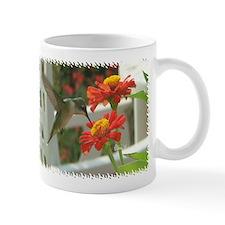 1998 Hummingbird Drinking From Zinnia Mug