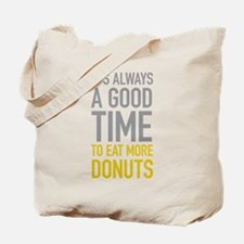 Eat More Donuts Tote Bag