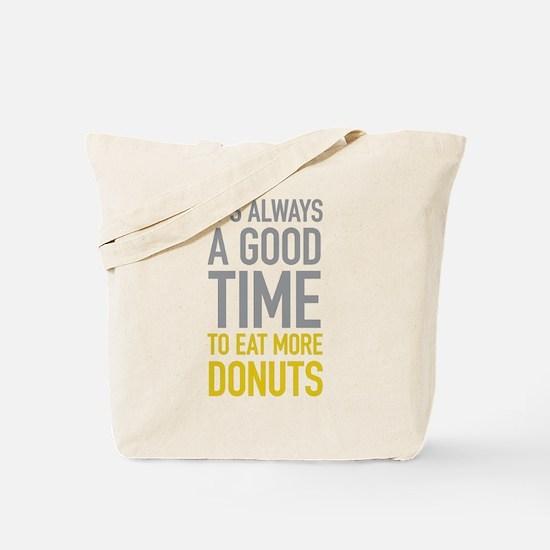Eat More Donuts Tote Bag
