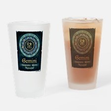 Gemini Astrology Zodiac Sign Drinking Glass