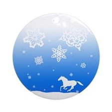 Winter Snowflakes Horse Christmas Tree Ornament
