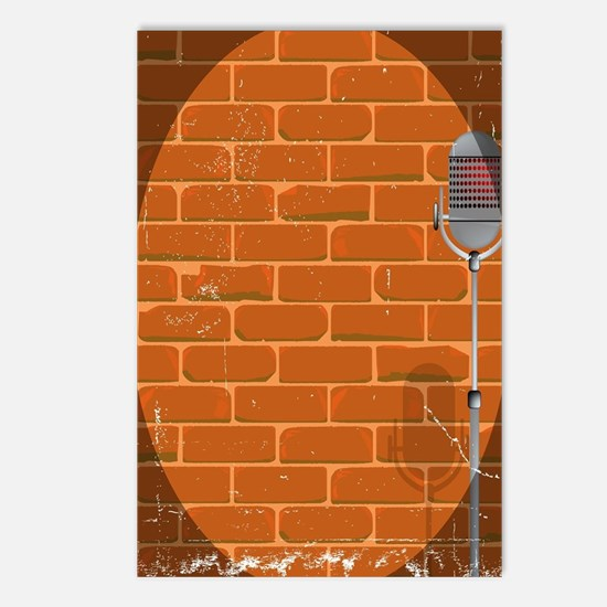 Funny Comedian microphone Postcards (Package of 8)