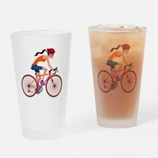 Cute Bicycle Drinking Glass