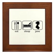 Eat Sleep Jane Framed Tile