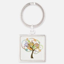 Cute Abstract Square Keychain